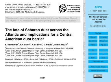 The Fate of Saharan Dust Across the Atla... by Nowottnick, E.