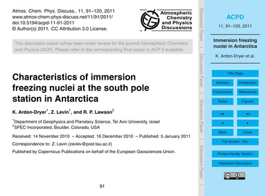 Characteristics of Immersion Freezing Nu... by Ardon-dryer, K.