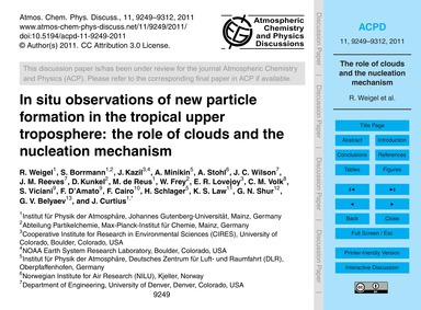 In Situ Observations of New Particle For... by Weigel, R.