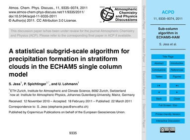 A Statistical Subgrid-scale Algorithm fo... by Jess, S.