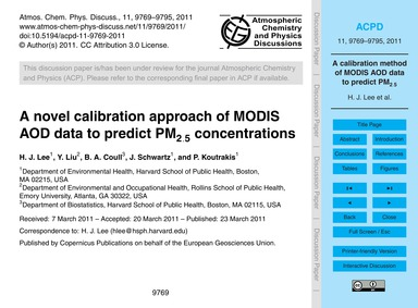 A Novel Calibration Approach of Modis Ao... by Lee, H. J.