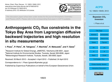 Anthropogenic Co2 Flux Constraints in th... by Pisso, I.