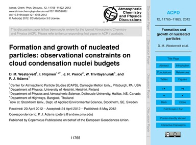 Formation and Growth of Nucleated Partic... by Westervelt, D. M.