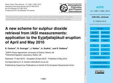 A New Scheme for Sulphur Dioxide Retriev... by Carboni, E.