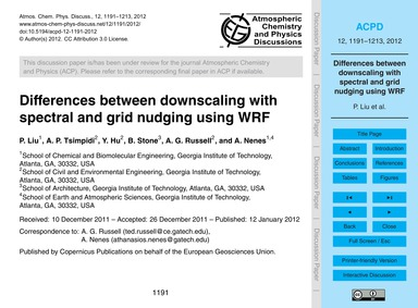 Differences Between Downscaling with Spe... by Liu, P.