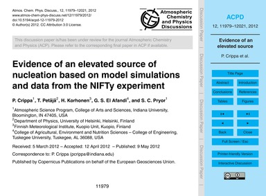 Evidence of an Elevated Source of Nuclea... by Crippa, P.