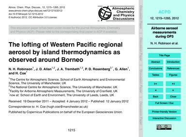 The Lofting of Western Pacific Regional ... by Robinson, N. H.