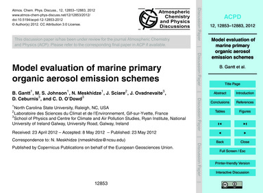 Model Evaluation of Marine Primary Organ... by Gantt, B.