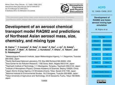 Development of an Aerosol Chemical Trans... by Kajino, M.