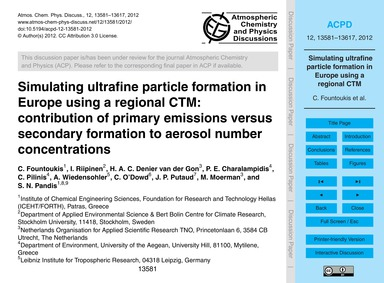 Simulating Ultrafine Particle Formation ... by Fountoukis, C.