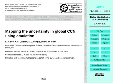 Mapping the Uncertainty in Global Ccn Us... by Lee, L. A.