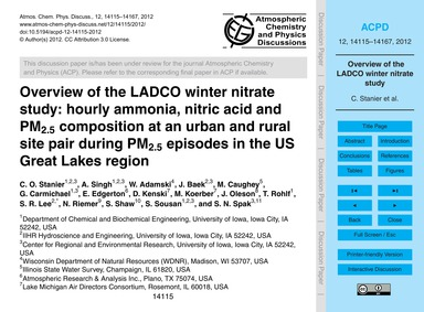 Overview of the Ladco Winter Nitrate Stu... by Stanier, C. O.