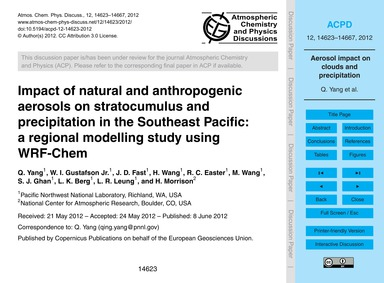 Impact of Natural and Anthropogenic Aero... by Yang, Q.