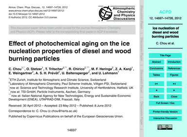 Effect of Photochemical Aging on the Ice... by Chou, C.