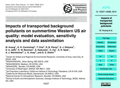 Impacts of Transported Background Pollut... by Huang, M.