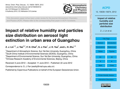 Impact of Relative Humidity and Particle... by Lin, Z. J.
