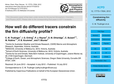 How Well Do Different Tracers Constrain ... by Trudinger, C. M.