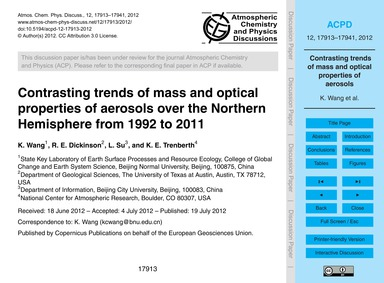 Contrasting Trends of Mass and Optical P... by Wang, K.