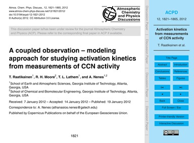 A Coupled Observation – Modeling Approac... by Raatikainen, T.