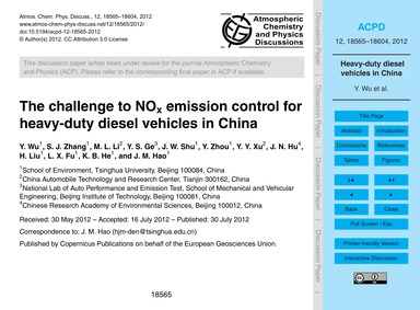 The Challenge to NoX Emission Control fo... by Wu, Y.