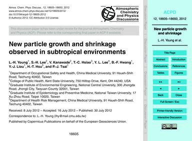 New Particle Growth and Shrinkage Observ... by Young, L.-h.