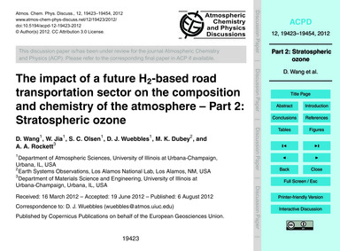 The Impact of a Future H2-based Road Tra... by Wang, D.