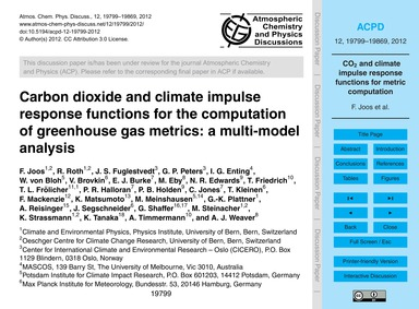 Carbon Dioxide and Climate Impulse Respo... by Joos, F.