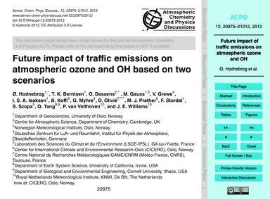 Future Impact of Traffic Emissions on At... by Hodnebrog, Ø.