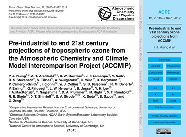 Pre-industrial to End 21St Century Proje... by Young, P. J.