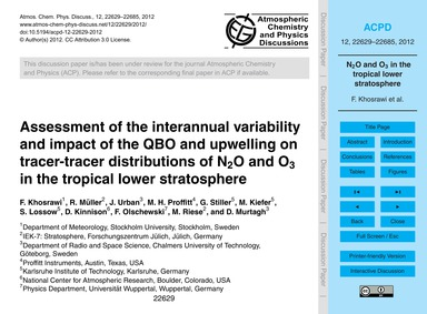 Assessment of the Interannual Variabilit... by Khosrawi, F.