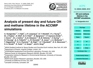 Analysis of Present Day and Future Oh an... by Voulgarakis, A.