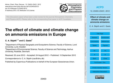 The Effect of Climate and Climate Change... by Skjøth, C. A.