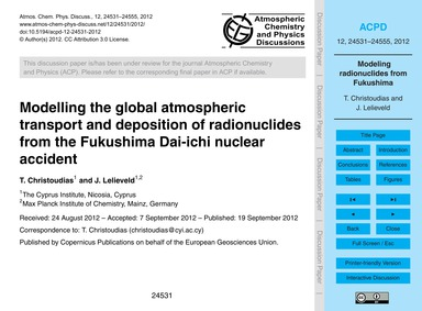 Modelling the Global Atmospheric Transpo... by Christoudias, T.