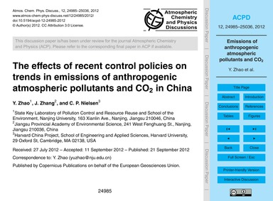 The Effects of Recent Control Policies o... by Zhao, Y.