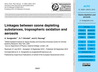 Linkages Between Ozone Depleting Substan... by Voulgarakis, A.