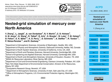 Nested-grid Simulation of Mercury Over N... by Zhang, Y.