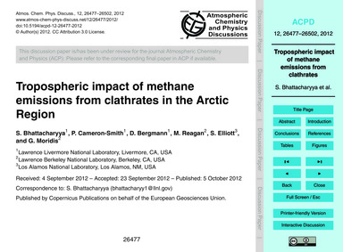 Tropospheric Impact of Methane Emissions... by Bhattacharyya, S.