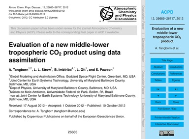 Evaluation of a New Middle-lower Troposp... by Tangborn, A.