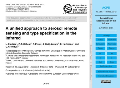 A Unified Approach to Aerosol Remote Sen... by Clarisse, L.