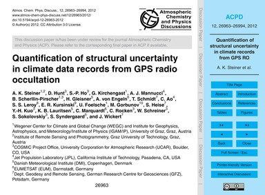 Quantification of Structural Uncertainty... by Steiner, A. K.