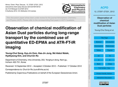Observation of Chemical Modification of ... by Song, Young-chul