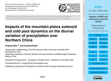 Impacts of the Mountain-plains Solenoid ... by Xinghua Bao