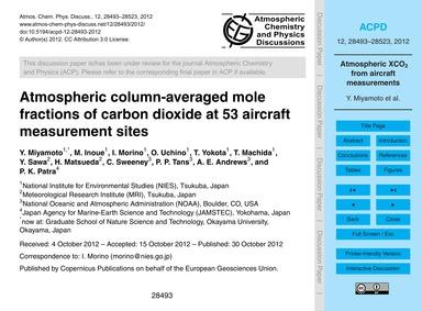 Atmospheric Column-averaged Mole Fractio... by Miyamoto, Y.