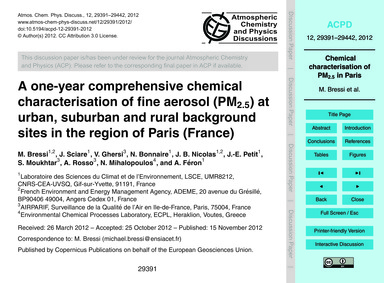 A One-year Comprehensive Chemical Charac... by Bressi, M.