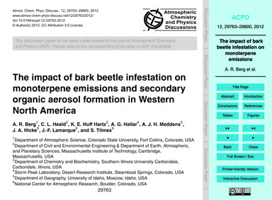 The Impact of Bark Beetle Infestation on... by Berg, A. R.