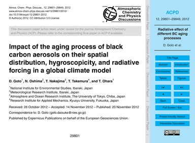 Impact of the Aging Process of Black Car... by Goto, D.