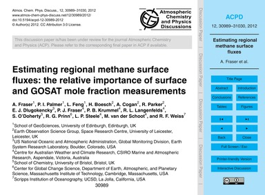 Estimating Regional Methane Surface Flux... by Fraser, A.