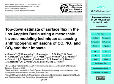 Top-down Estimate of Surface Flux in the... by Brioude, J.
