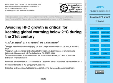 Avoiding Hfc Growth is Critical for Keep... by Xu, Y.
