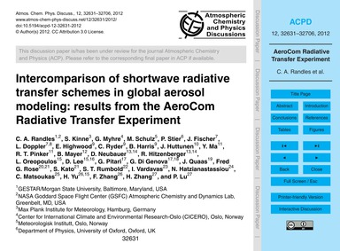 Intercomparison of Shortwave Radiative T... by Randles, C. A.